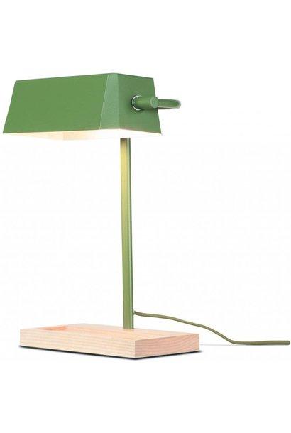Tafellamp Cambridge ijzer hout groen