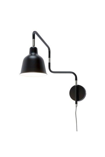 Wandlamp London ijzer zwart