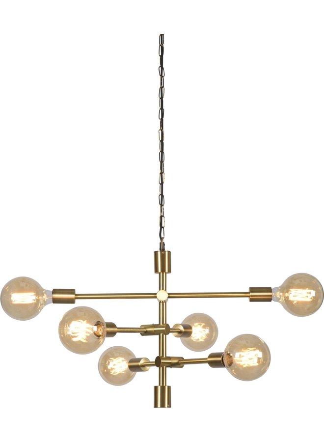 Hanglamp Nashville ijzer 3-arm goud
