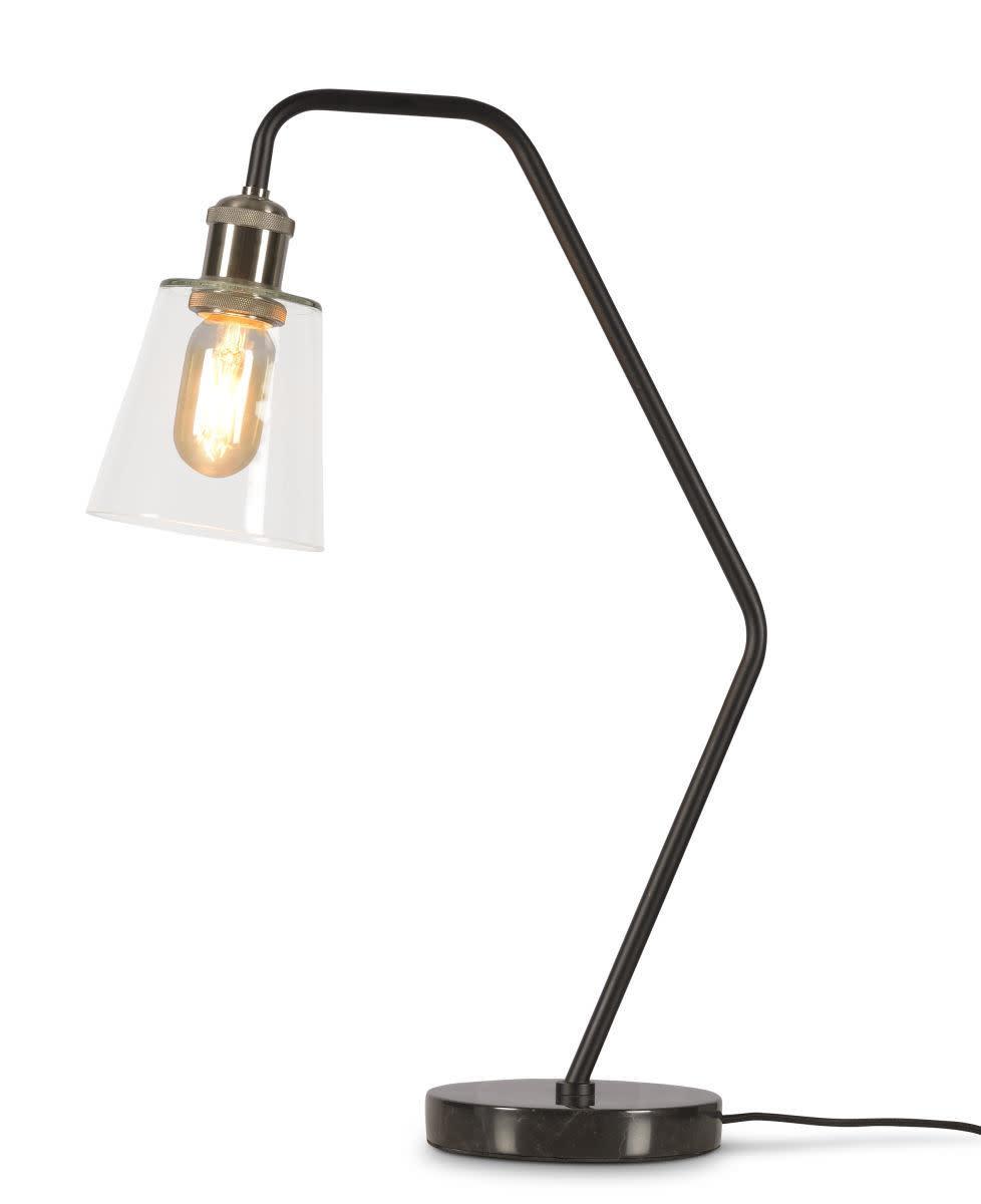 Tafellamp Parijs glas marmer zwart-1