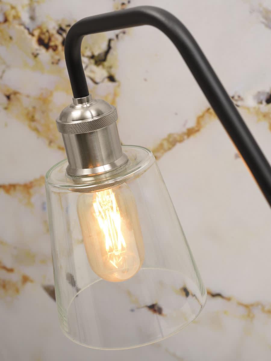 Tafellamp Parijs glas marmer zwart-3
