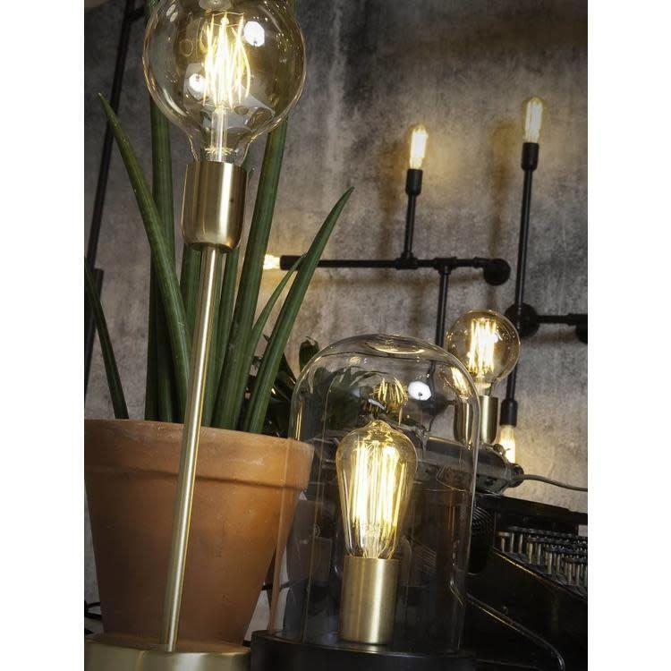 Tafellamp Seattle glas hout zwart-2