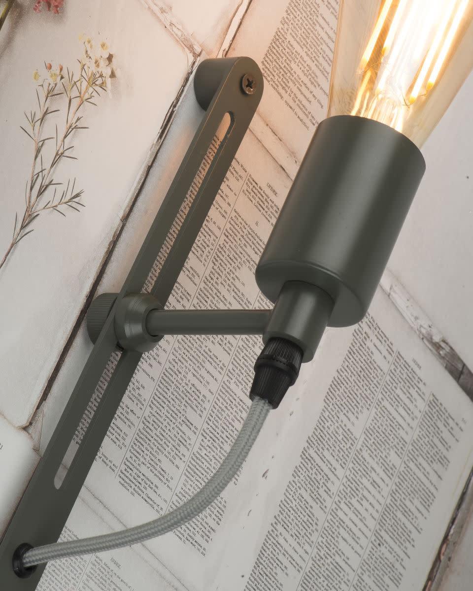 Wandlamp Seattle ijzer grijs-2