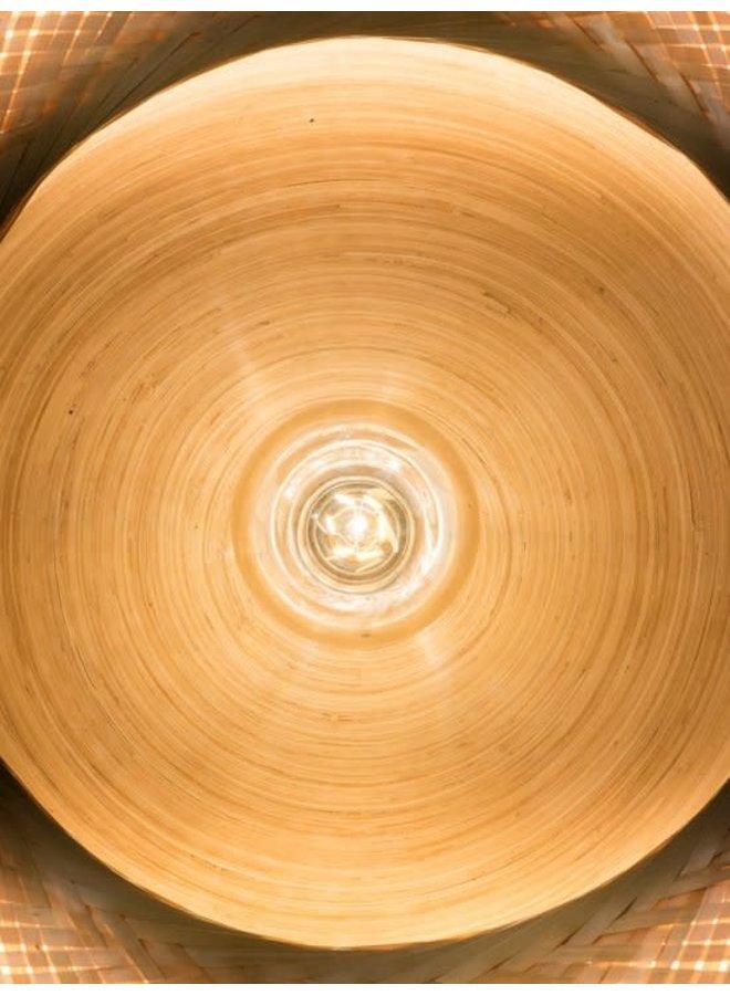Hanglamp Mekong bamboe plat L