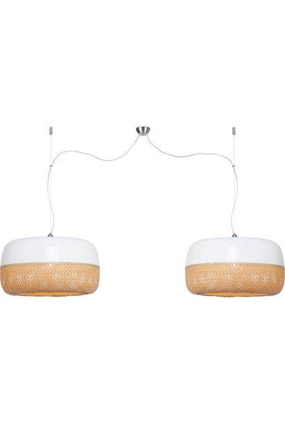 Hanglamp Mekong dubbel bamboe L