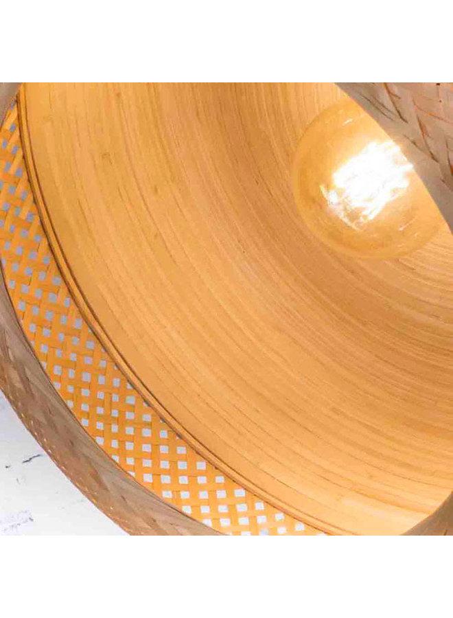Hanglamp Mekong bamboe plat