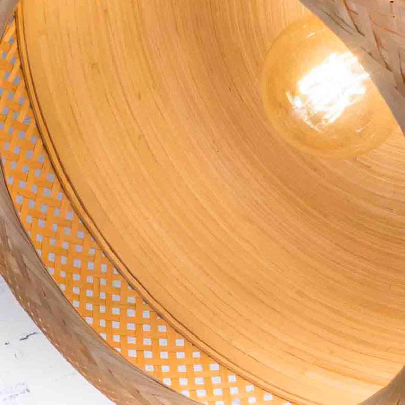 Hanglamp Mekong bamboe plat-4