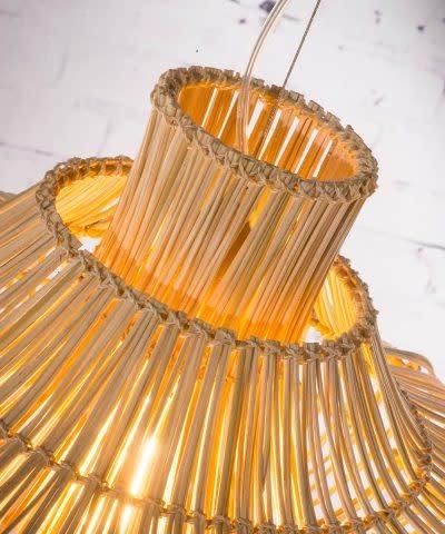 Hanglamp Kalahari wicker double natural L-4