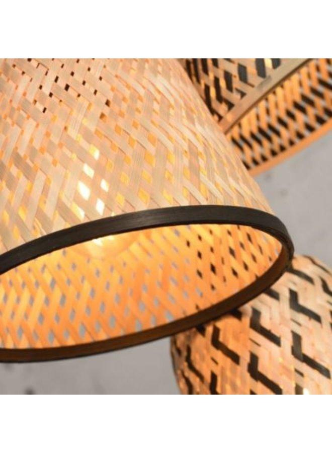 Hanglamp Kalimantan bamboo 3 shades