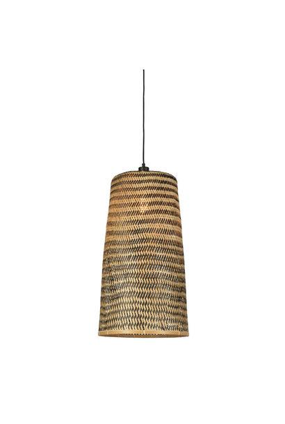 Hanglamp Kalimantan bamboo tapered L (incl.pendel)