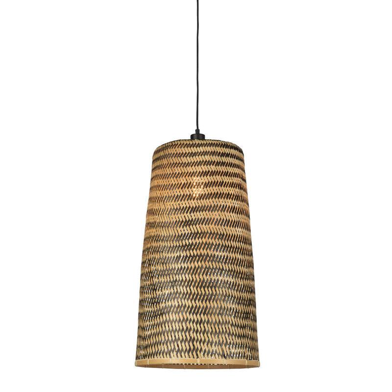 Hanglamp Kalimantan bamboo tapered L (incl.pendel)-1