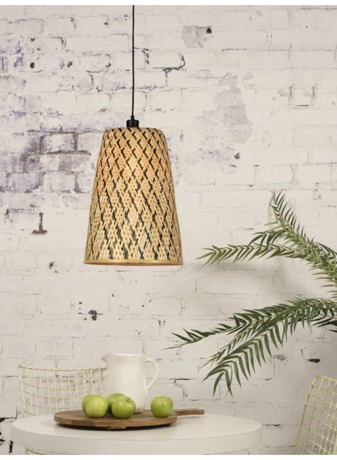 Hanglamp Kalimantan bamboo tapered S