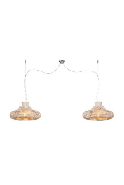 Hanglamp Kalahari wicker double natural L