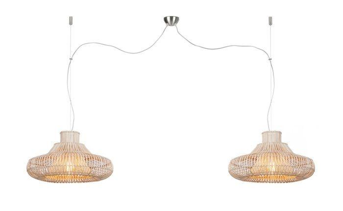 Hanglamp Kalahari wicker double natural L-1