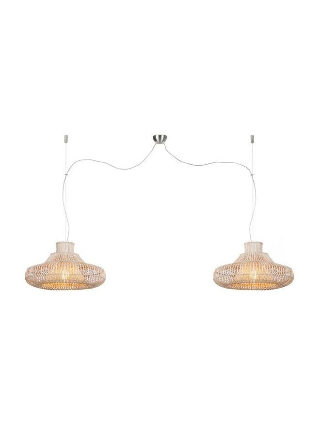 Hanglamp Kalahari wicker double  natural S