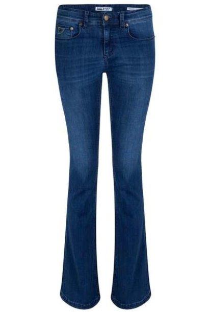 Jeans Melrose Leia Teal Lengte 34 Blue