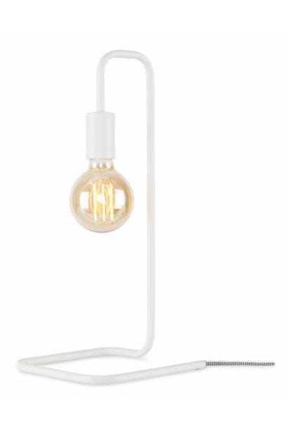 Tafellamp London ijzer wit
