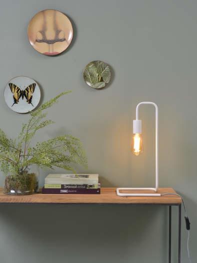 Tafellamp London ijzer wit-2