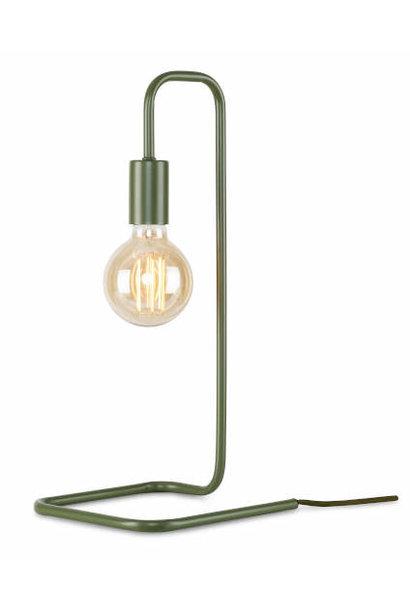 Tafellamp London ijzer groen