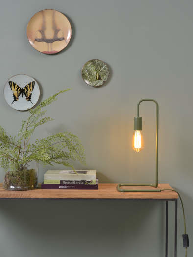 Tafellamp London ijzer groen-2