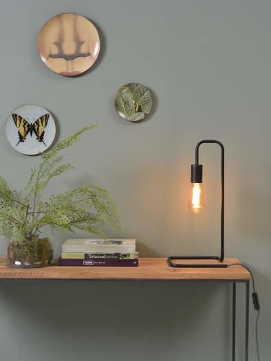 Tafellamp London ijzer zwart-2