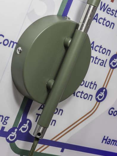 Wandlamp London ijzer groen-3