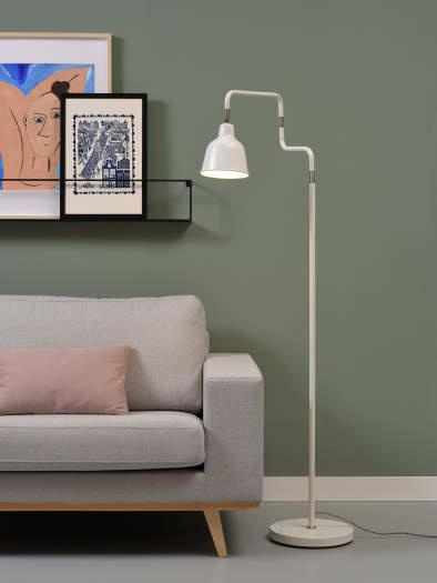 Vloerlamp London ijzer wit-2