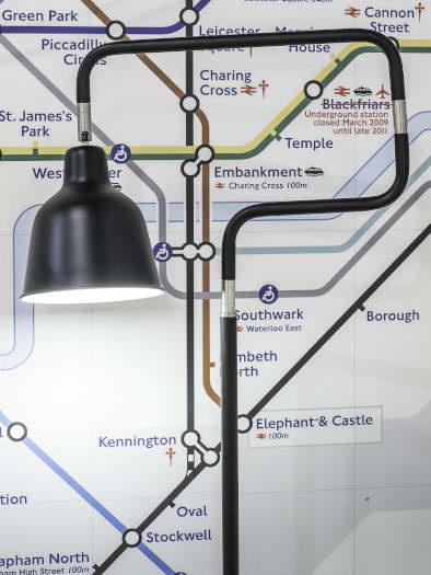 Vloerlamp London ijzer zwart-2
