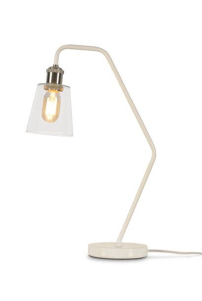 Tafellamp Parijs glas marmer wit