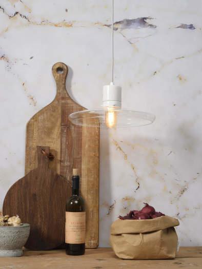 Hanglamp Parijs glas marmer wit-2