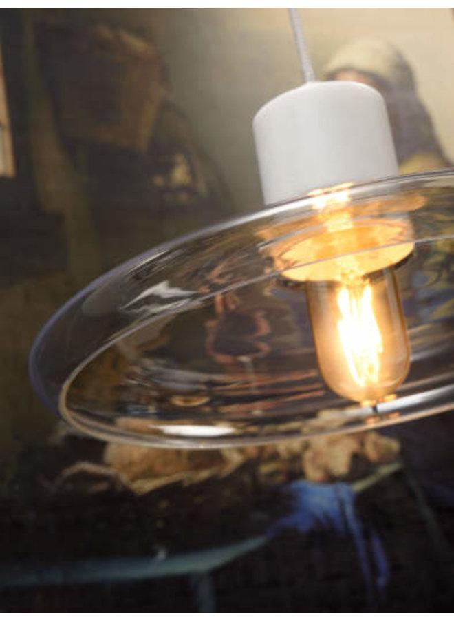 Hanglamp Parijs glas marmer wit
