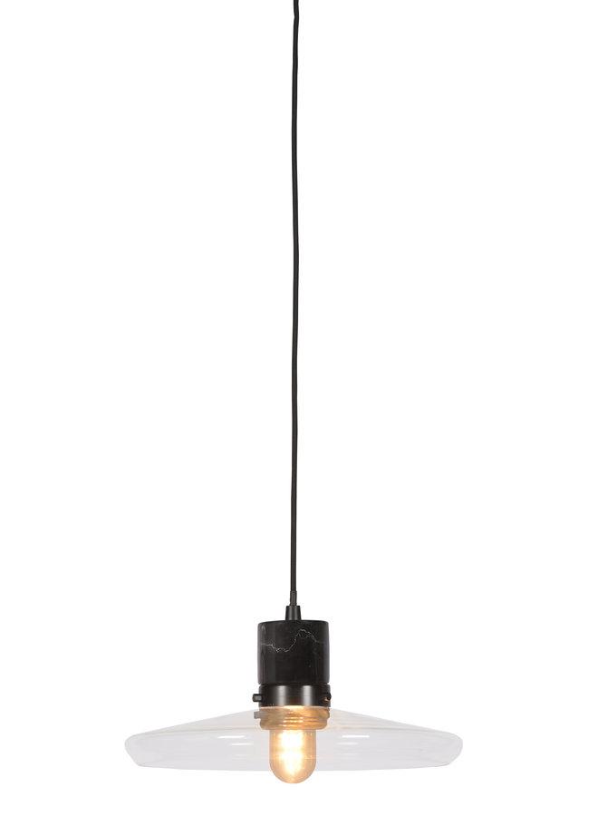 Hanglamp Parijs glas marmer zwart