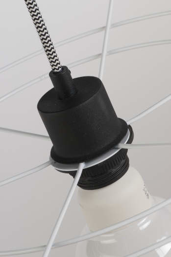 Hanglamp Oslo 12 lampen textil smokey grey-2