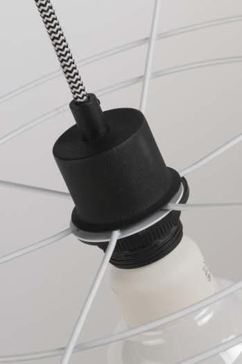 Hanglamp Oslo 7 lampen textil smokey grey-2