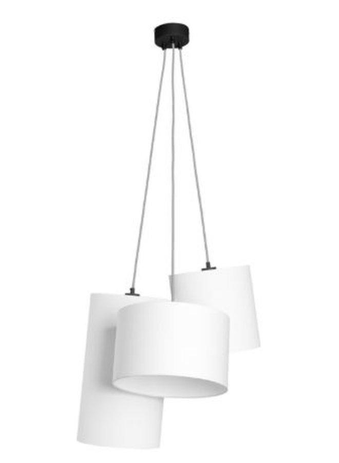 Hanglamp Oslo 3 lampen textil smokey grey