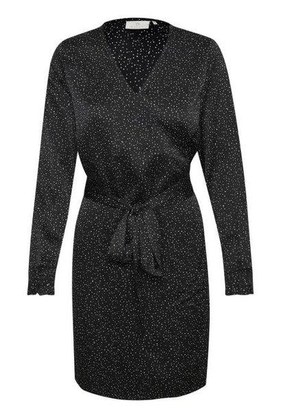 Jurk Kadotise wrap dress black