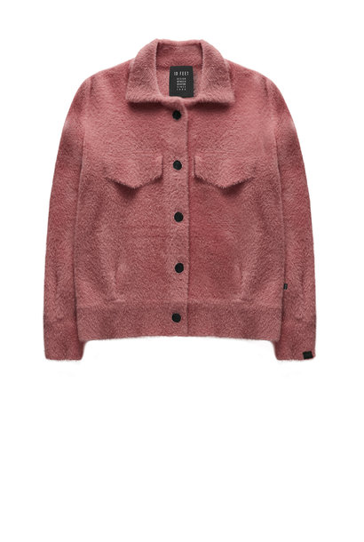 Jas Faux fur knit Framboise