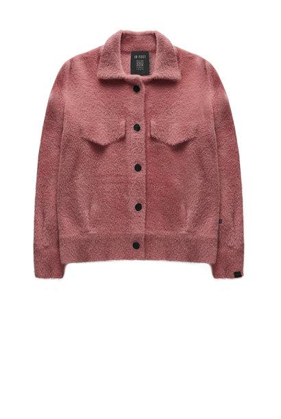Jas Faux fur knit jacket framboise
