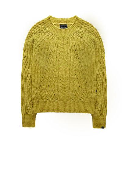 Trui cable knit lurex stripes
