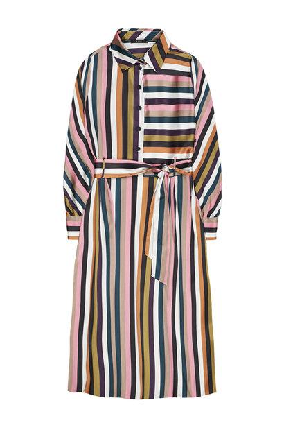 Jurk Over the knee multi colour striped