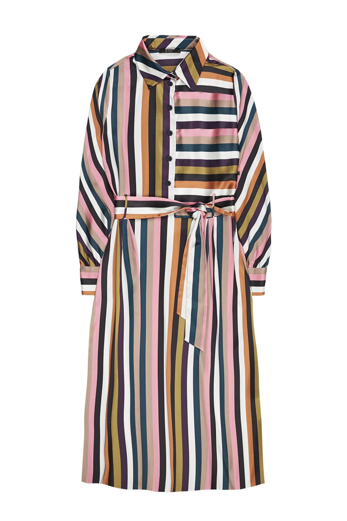 Jurk Over the knee multi colour striped-1