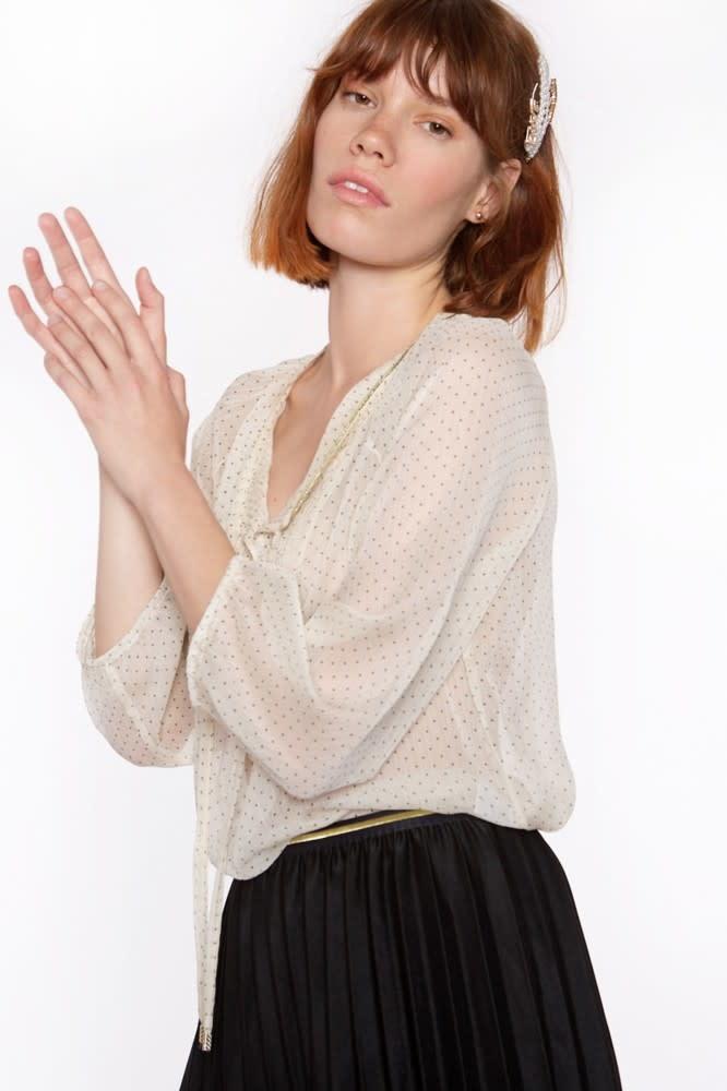 Blouse Long sleeve in chiffon-3