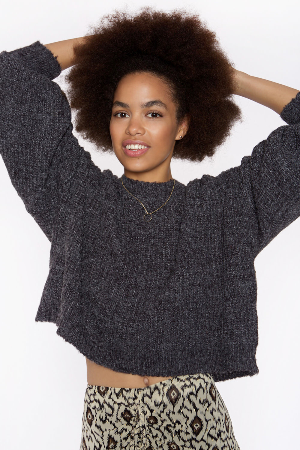 Trui Soft knit sweater with tie behind-2