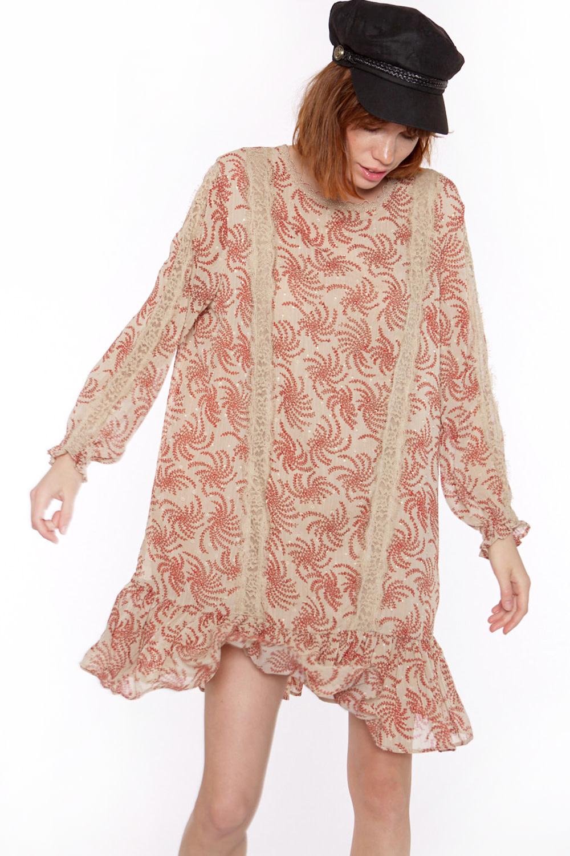 Jurk Chiffon fabric with long sleeve-2