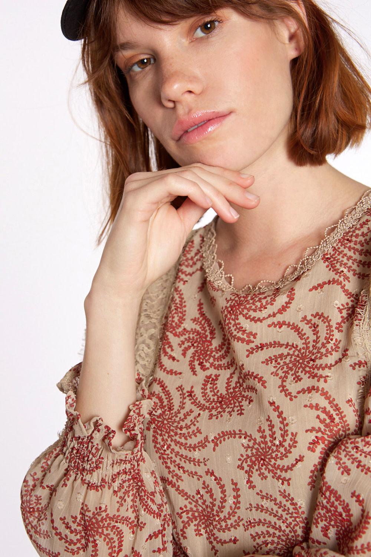 Jurk Chiffon fabric with long sleeve-3