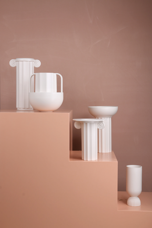 Vaas ceramic greek A 21x32cm White-3