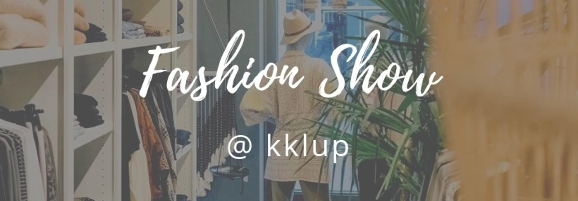 Zondag 25 augustus: kklup fashion show