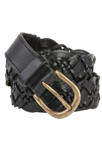 Riem braided leather black