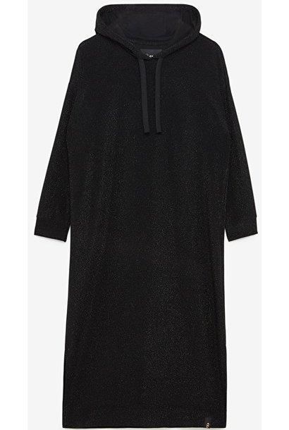 Jurk midi dress nero
