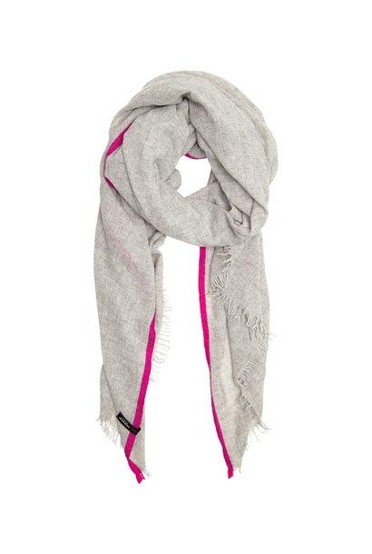 Sjaal fluor stripes soft light grey